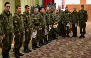 Награждение гвардейцев, увольняемых в запас