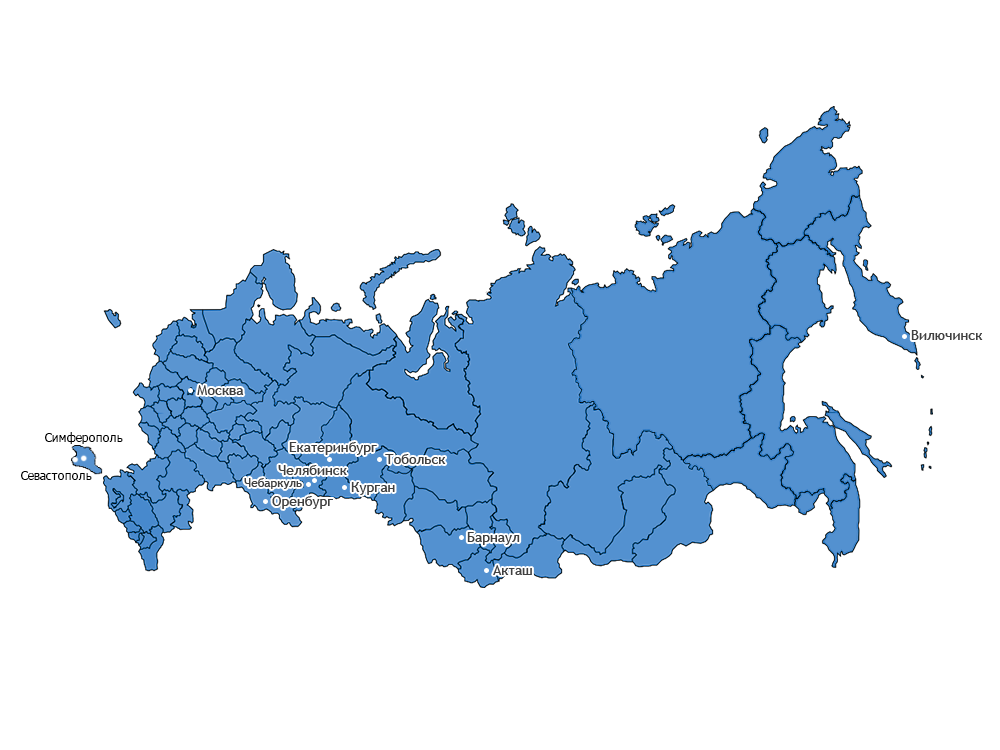 География деятельности военно-патриотический фонда