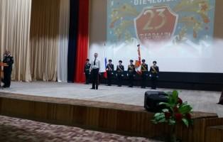 Гвардейцев поздравили с Днём защитника Отечества