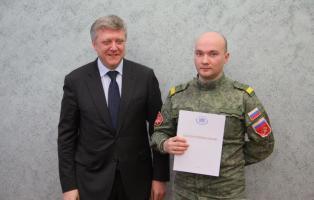 Гвардейскую танковую дивизию поздравляют представители органов государственной власти России