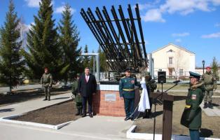 Открытие мемориала в память о подвигах артиллеристов Великой Отечественной войны в прославленном соединении